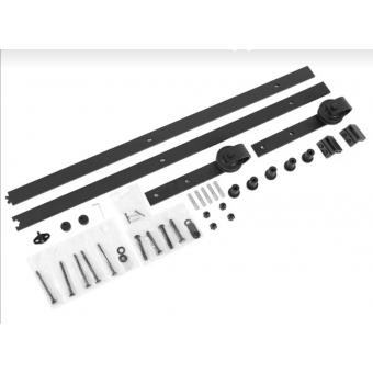 Railsysteem zwart 183 cm recht